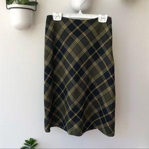 100% wool plaid skirt - vintage Jones New York